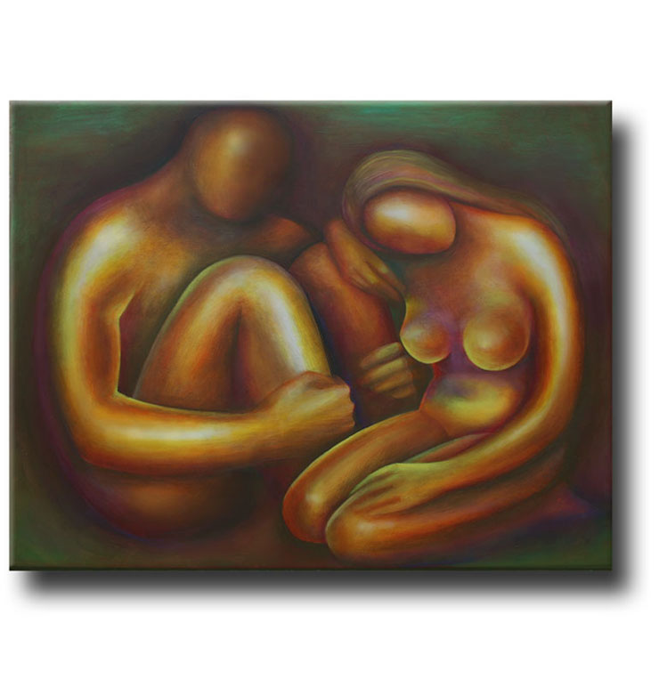 Affection__Acrylic on stretched canvas__ 40x30 inches