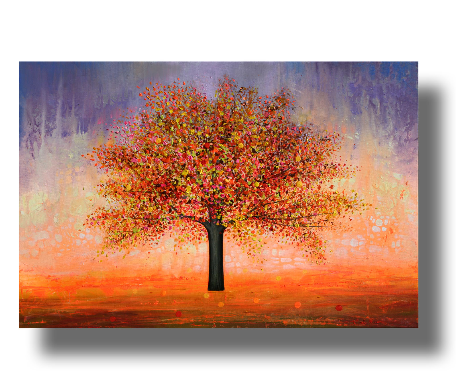 The apple tree__Acrylic on stretched canvas__ 24x36 inches