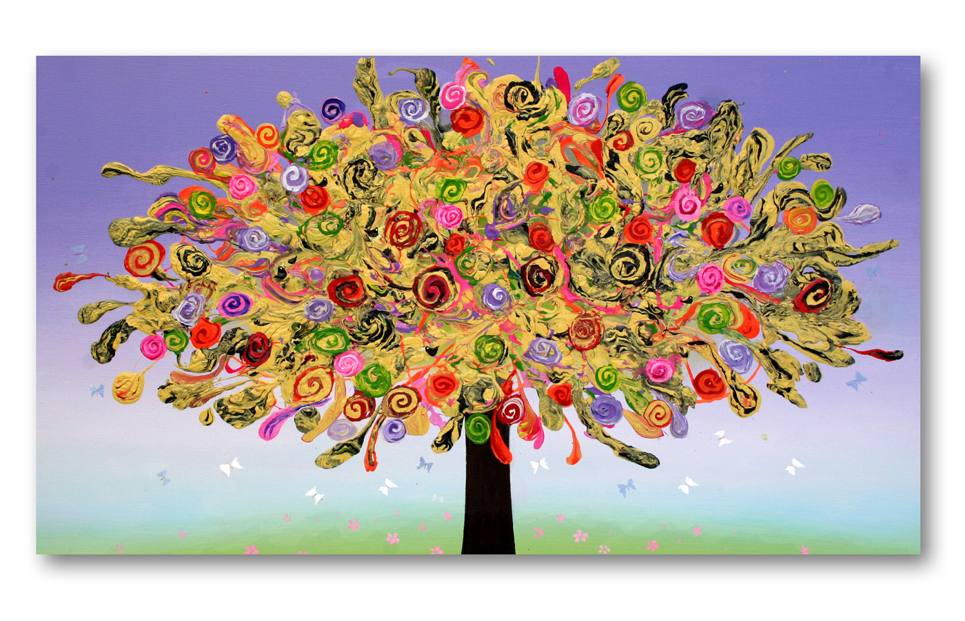 happytree2__Acrylic on stretched canvas__ 20x40inches