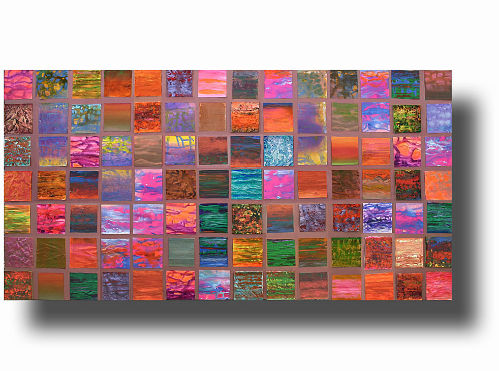 mosaic 59__Acrylic on stretched canvas__ 40x20 inches 