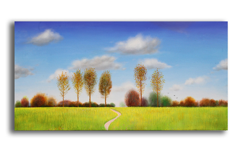 path to the river 2__Acrylic on stretched canvas__ 40x20 inches
