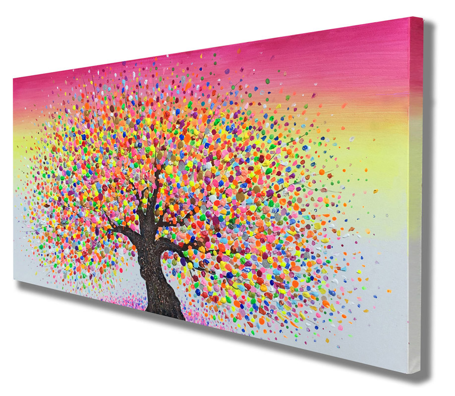 summertree7__Acrylic on stretched canvas__ 40x20inches