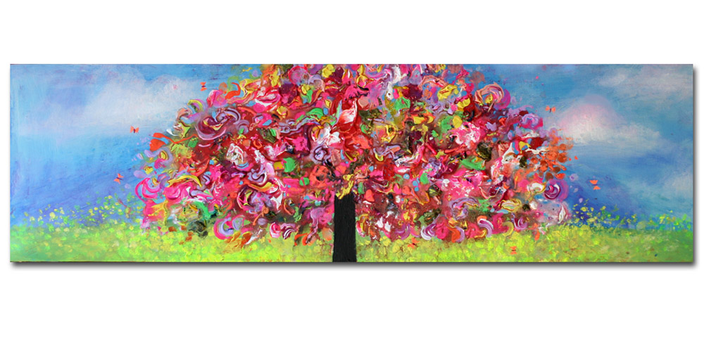 TREE108__Acrylic on stretched canvas__ 16x40 inches