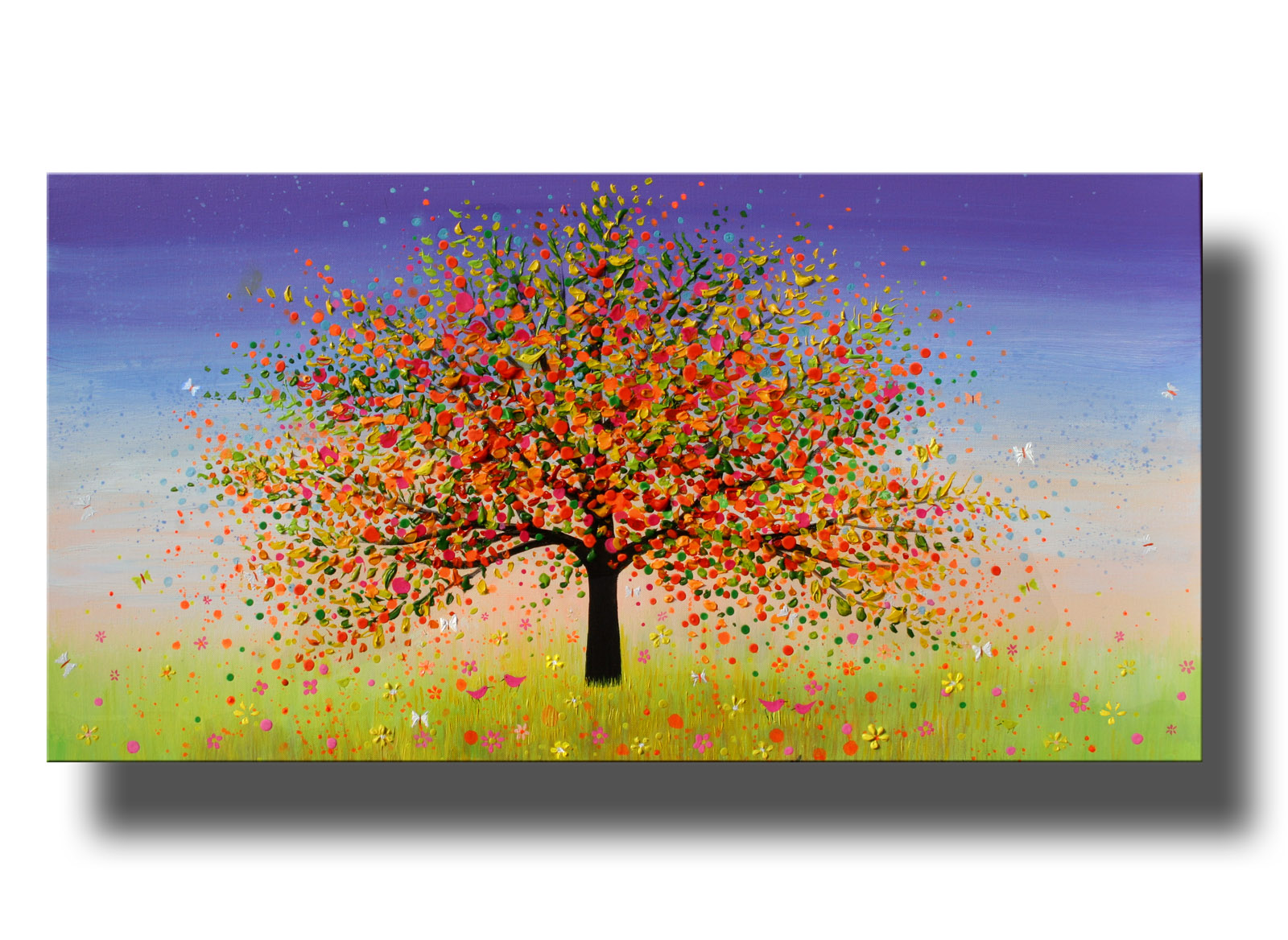 tree 14__Acrylic on stretched canvas__ 20x40 inches