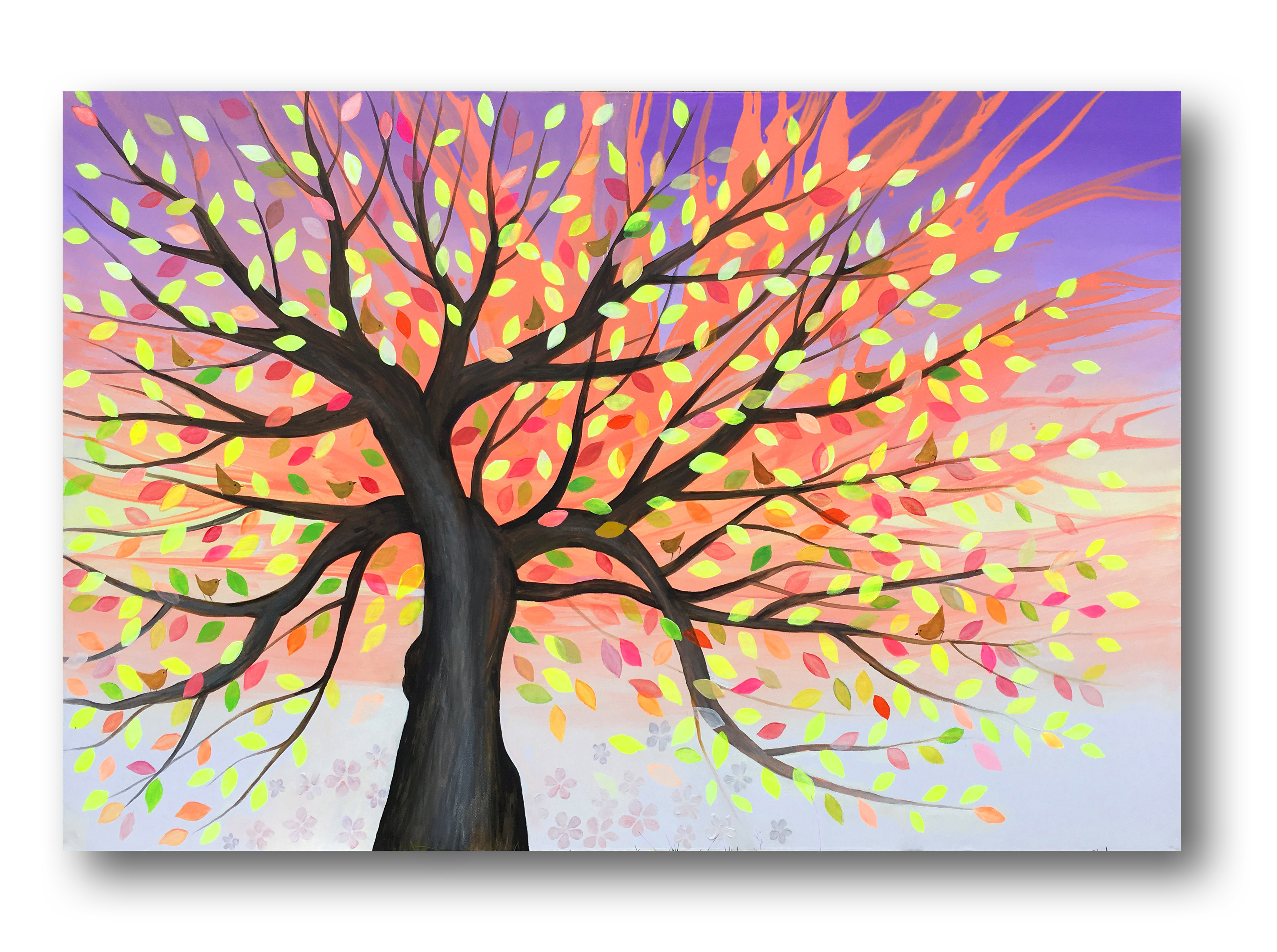 Tree216__Acrylic on stretched canvas__ 60x36 inches
