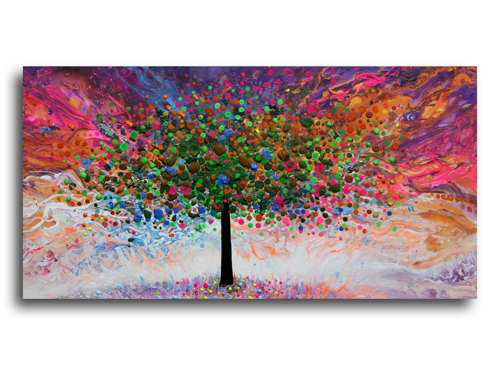tree 49__Acrylic on stretched canvas__ 20x40 inches